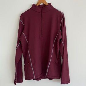 lululemon Vintage Half-Zip Long Sleeve Top Sz10
